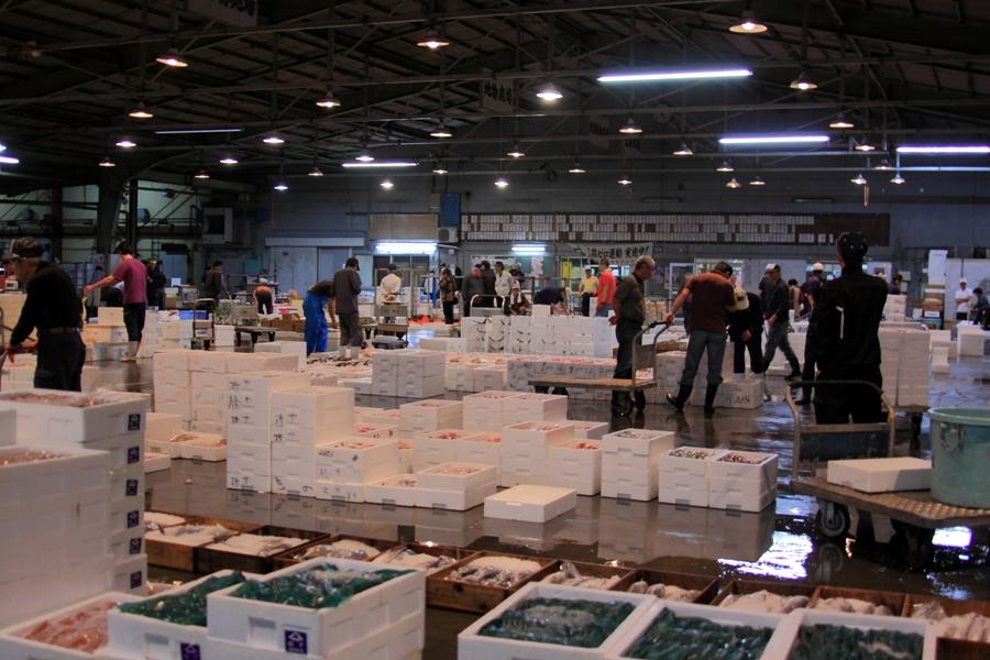 筑後中部魚市場(朝)