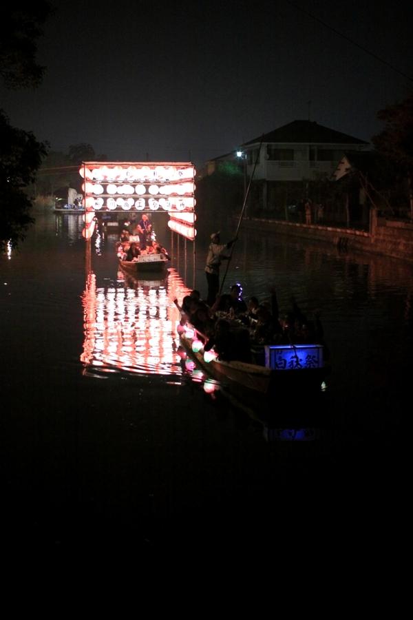 白秋祭 提灯トンネル